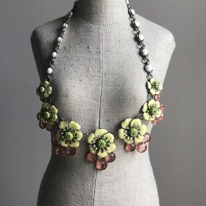 Talbots Floral Statement Necklace